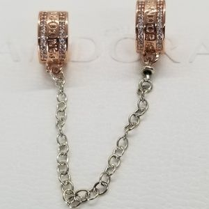 Pandora Jewelry - New Pandora Rose Insignia Safety Chain  Rose Gold